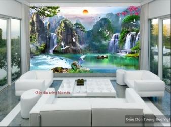 tranh phong cảnh trang trí phòng ngủ 01