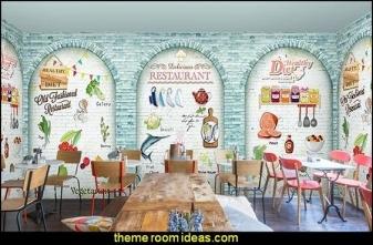 vẽ tranh tường nhà hàng 05