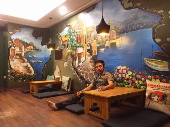 Công trình vẽ tranh 3d tại cafe Lylaguard 440 tây sơn