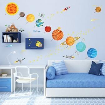 tranh trang trí phòng ngủ bé trai hà Nội