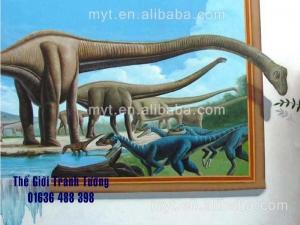 Mẫu tranh tường 3d động vật