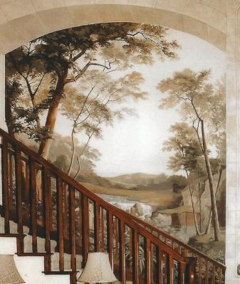 mẫu vẽ tranh phòng khách được ưa chuộng nhất 04