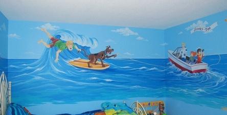 mẫu vẽ tranh trường mầm lớp học của bé 09