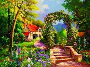 Mẫu - vẽ tranh tường phong cảnh - phòng khách 03