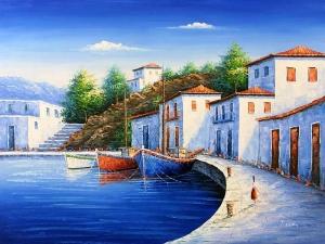 Mẫu - vẽ tranh tường phong cảnh - phòng khách 04