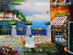Mẫu - vẽ tranh tường phong cảnh - phòng khách 08