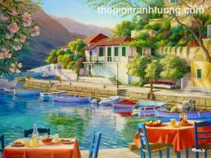 Mẫu - vẽ tranh tường phong cảnh - phòng khách 09