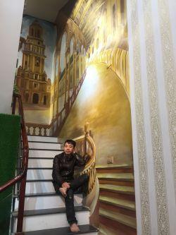 Xưởng vẽ tranh tường phòng khách giá rẻ tại Hà Nội