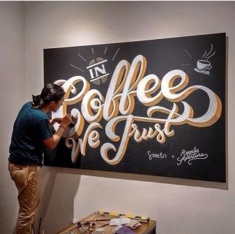 Trang trí các kiểu chữ cho quán Cafe 10