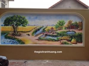 Tranh phòng cảnh hành lang - Mê Linh, Hà Nội
