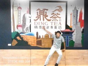 Tranh Quán Trà Sữa Dingtea Nguyễn Văn Cừ, Tp. Vinh, Nghệ An
