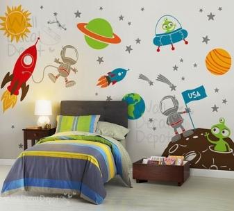 tranh trang trí phòng ngủ bé trai