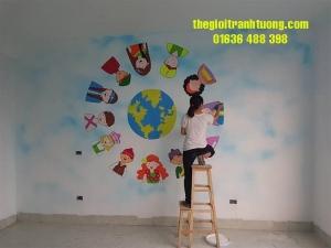 Tranh trường mầm non Long Biên Hà Nội