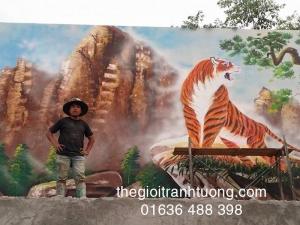 Tranh tường 3D đẹp  - Tại Hà Nội