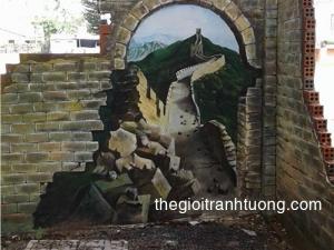 Tranh Tường 3D đẹp - 165 Hoàng Hoa Thám, Hà Nội