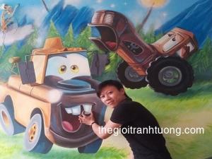 Tranh Tường 3D đẹp - Tòa Nhà Building, Ngô Tất Tố, Văn Miếu, Hà Nội