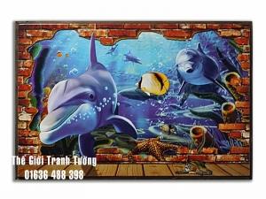 Tranh Tường 3D Tại nhà sách 65 Lê Hồng Phong TP.Vinh, Nghệ An, Việt Nam