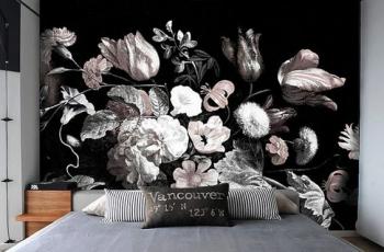 vẽ hoa tranh tương phòng ngủ 01