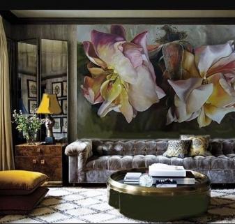 vẽ tranh hoa 3d cổ điện