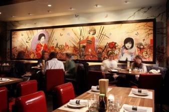 vẽ tranh trang tri nhà hàng hà Nội 02