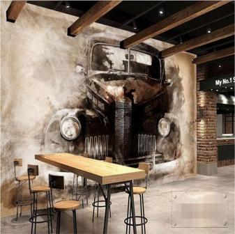 Vẽ tranh tường 3D quán trà sữa