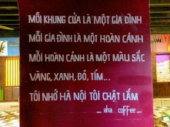 vẽ tranh tường Aha cafe 89 phan đình phung