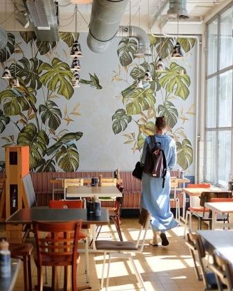 vẽ tranh tường nhà hàng hà Nội