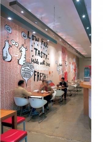 vẽ tranh tường nhà hàng 09