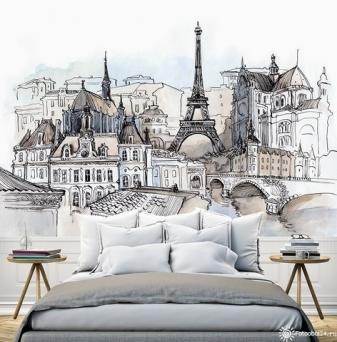 vẽ tranh tường phòng ngủ 05