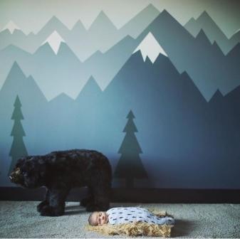 tranh tường phong ngủ hiện đại