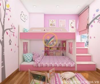vẽ tranh tường phòng ngủ bé gái