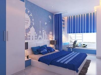 vẽ tranh tường phòng ngủ bé nam