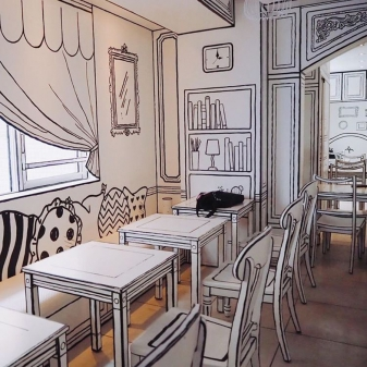 Vẽ tranh tường quán cafe, trà sữa theo phong cách hàn quốc