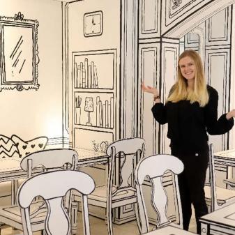Vẽ tranh tường quán cafe, trà sữa theo phong cách hàn quốc 02