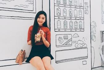 Vẽ tranh tường quán cafe, trà sữa theo phong cách hàn quốc 03