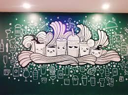 vẽ tranh tường quán trà sữa 01