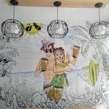 vẽ tranh tường quán trà sữa 03