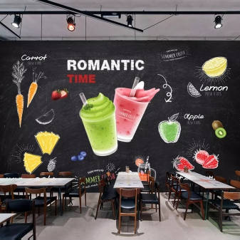 vẽ tranh tường quán trà sữa 05
